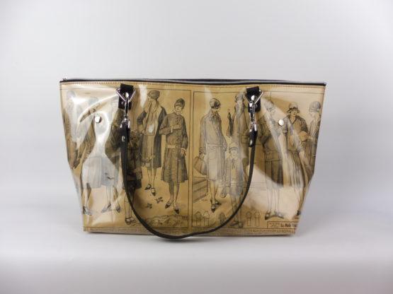 Sac Cabas «La Mode Française» années 20 face avant