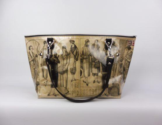 Sac Cabas « La Mode Française » années 20 face arrière